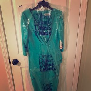 NWT - teal Eliza J formal gown